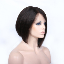 Premier hot sell 10 inch short celebrity bob Indian remy human hair silk top full lace wig for star