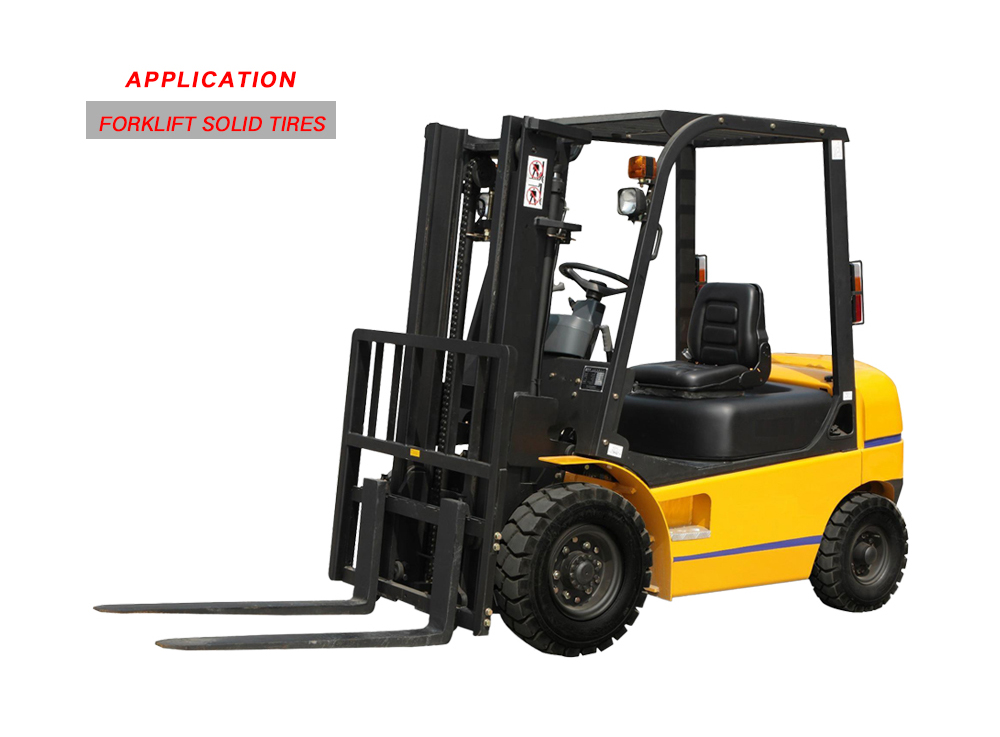 Rubber Forklift Solid Tyres Prices of 6.00-9