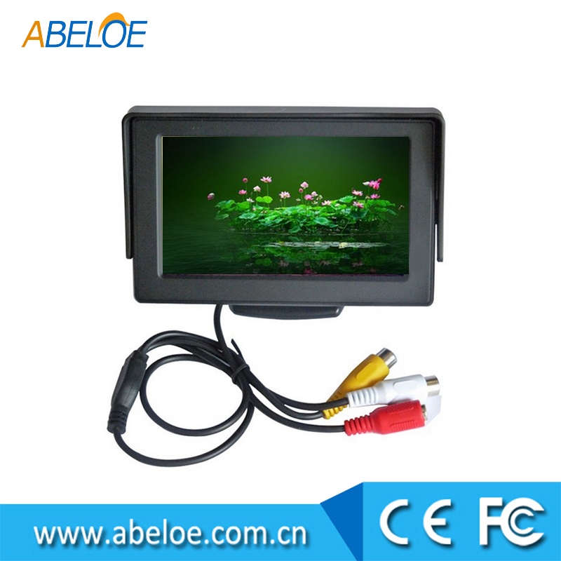 Factory Supply 4.3 Inch Dashboard Digital TFT LCD Car Monitor For Rear View System, Stand Alone Monitor