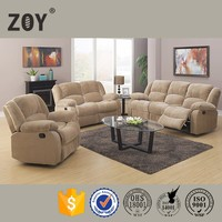 Turkish furniture fabric reclining sectional 3 2 1 sofa set designs ZOY 9393B
