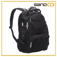 Factory Top Selling polyester black Laptop Backpack