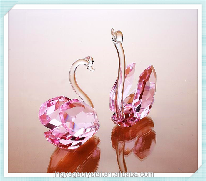 creative Romantic Crystal swan crystal Gift or Wedding favor crystal christening gifts