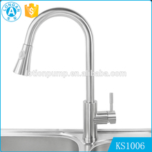 Stainless steel retractable Upc 3 way pull out kitchen faucet