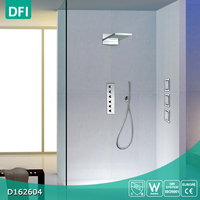 Bathroom wall mount shower hot cold water mixer tap system manufacturers