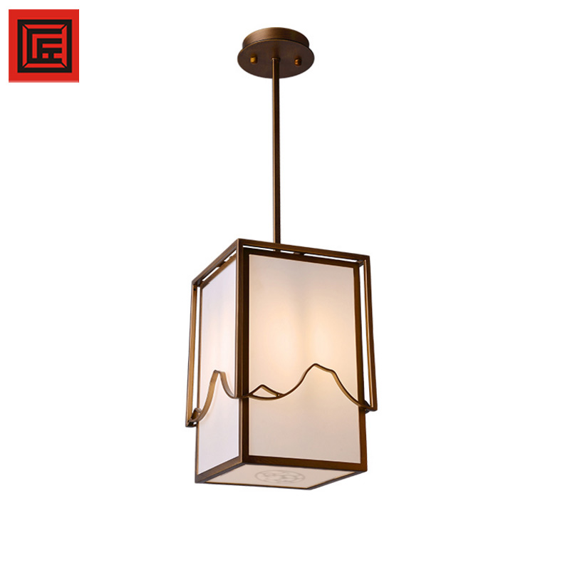 contemporary pendant lighting E27 Creative Acrylic silhouette iron painting brass chandelier