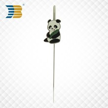 promotional gift panda silver custom metal bookmark