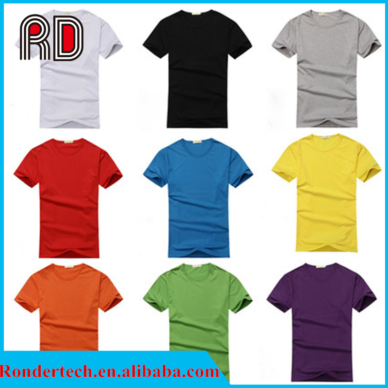 Custom T-shirts With Printing Round Necked Short Sleeves Cotton Solid Silm Fit DIY Leisure Casual Wear Wholesale