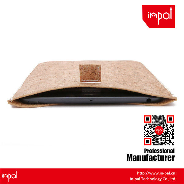 Premium hand-made real cork leather pouch for ipad mini for natural lovers and custom design accepted