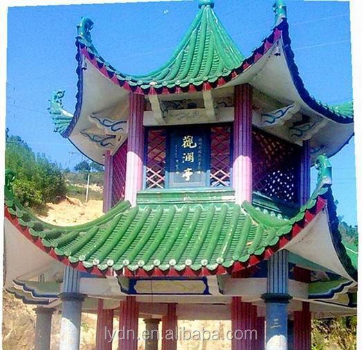 Chinese pavilion tile roofing