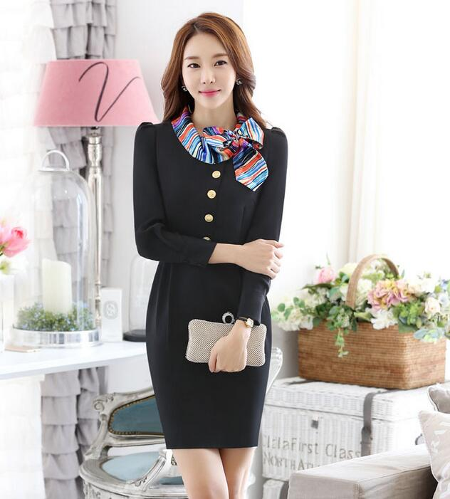 custom latest design good quality china supplier suply hotel uniforms woman dress wholesale