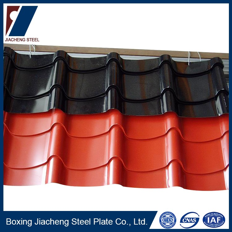 Color painted iron sheet steel corrugated metal roofing