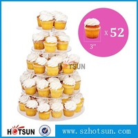 High quality plexiglass cake stand clear acrylic cupcake display