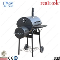 Wholesale Homemade charcoal smoker grill with wheel