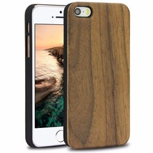 Handmade wood cellphone case rosewood skin, Hard PC Wood Phone Case For Iphone SE