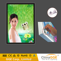 Customized design advertising A3 size wall mounting magnetic LED light boxes