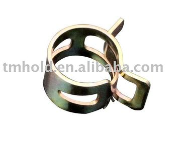 pre-opened tension spring hose clamps with T-clip