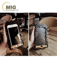 Luxury phone case for iphone 6s Bat car design with led and projector cell phone cover for iphone 6s mobile phone case wholesale