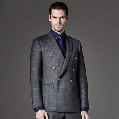 100% imported wool fabric double breasted mens suit coat pant design luxury wedding dress