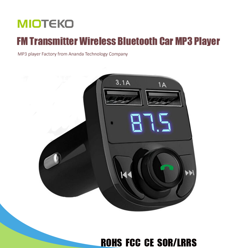 Car mp3 flash player Wireless FM Transmitter Bluetooth V4.0 Hands-Free Calling Car MP3 Player
