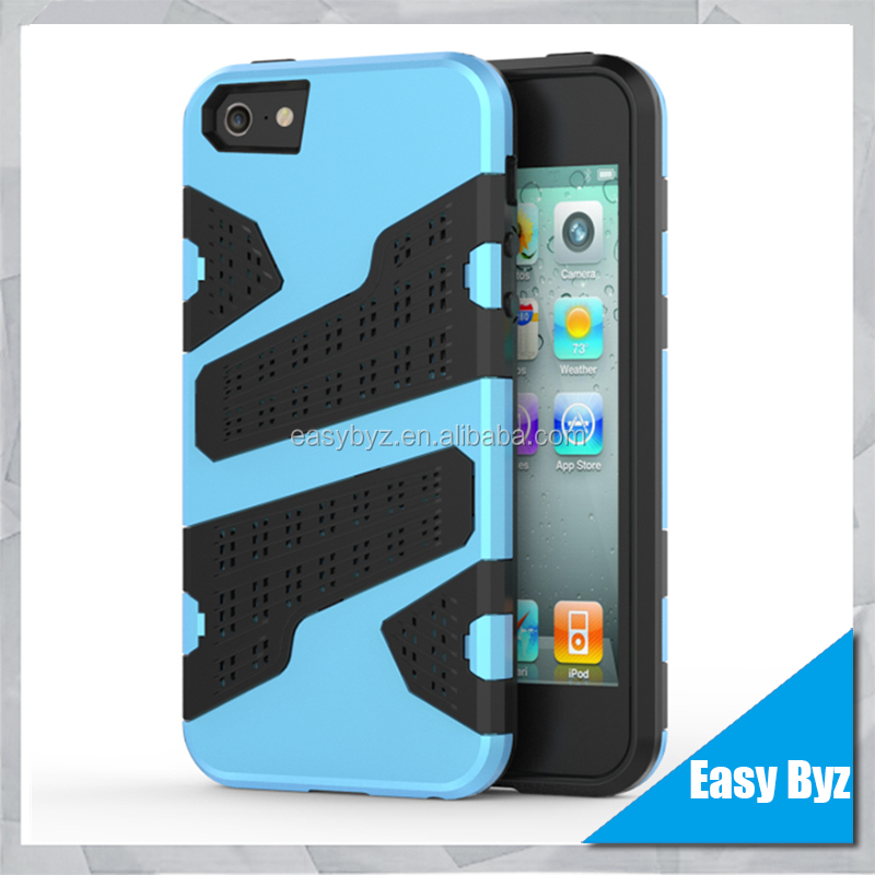 phone cases 2 in 1 Multi-Function Hybrid Combo Mesh Case Back Cover For Apple iphone 5C 5G SE