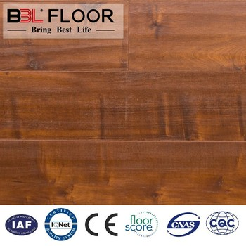 wax sealing ac4 hdf handscarped u groove laminate flooring made in china