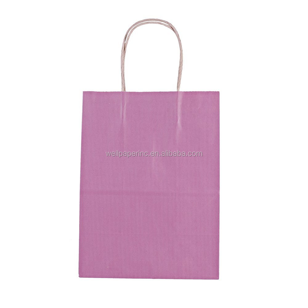 "8x4.75x10.5"" - Pink Kraft Paper Bags, Shopping, Mechandise, Party, Gift Bags (100pcs)"