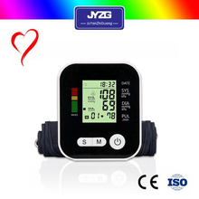 Home ambulatory bluetooth 4.0 dual cuff LCD arm digital blood pressure monitor