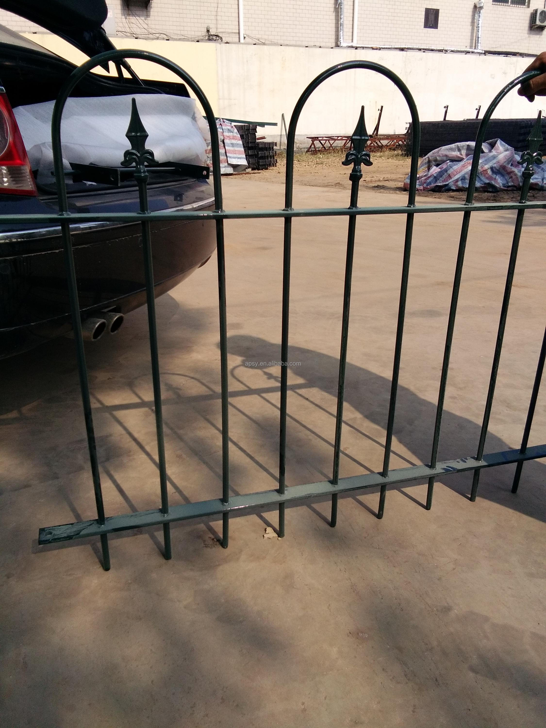 60 cm steel palisade fence with hoop top in various colors
