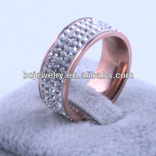 Rose gold spikes stainless steel women fancy rings made in China
