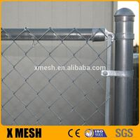 Galvanized chain link mesh fence as Temporary enclosure or dog kennels