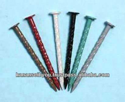 Colored enameled stainless steel nails