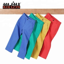 Kids cotton multicolor Adjustable Elastic waistband fashion <strong>boys</strong> <strong>pants</strong>