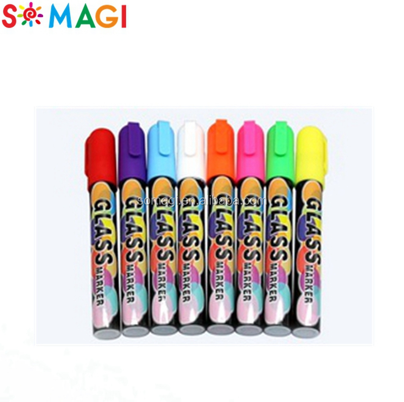 color chalk markers -new smooth cap felt tip nib-washable marker for kids