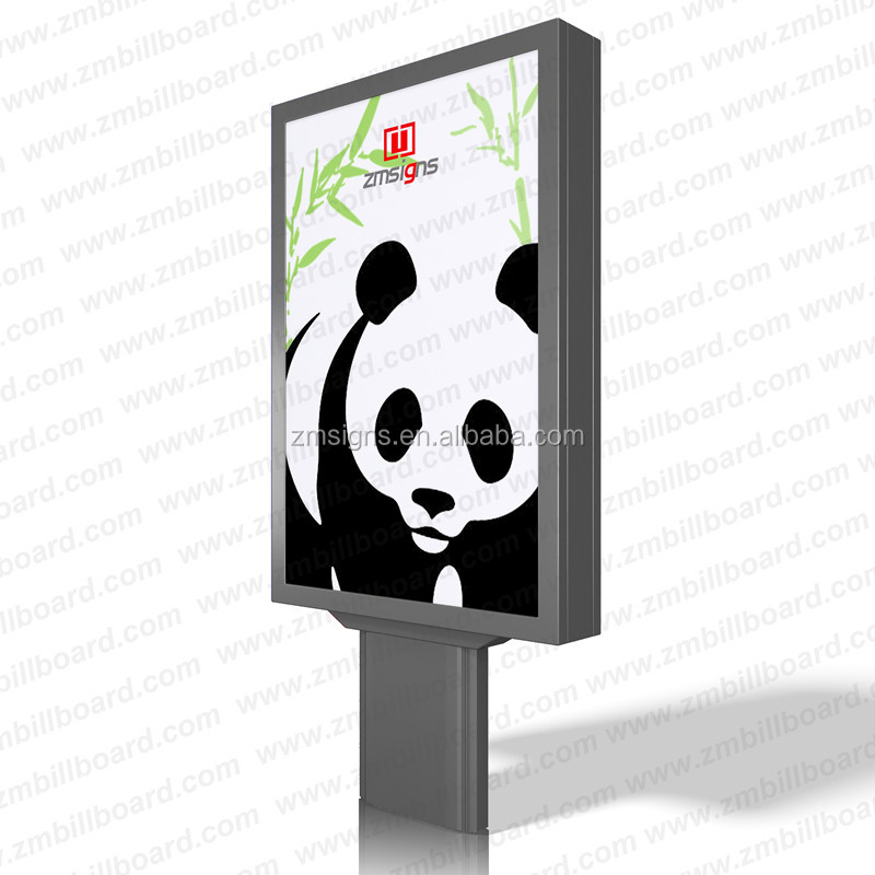 ZM-107 Outdoor Waterproof Advertising display Solar Power LED light box