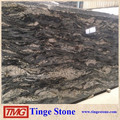 Cosmic Black Granite Slab For Countertop Vanity Tops, Bathroom