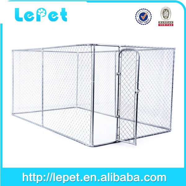 Custom logo hot sale heavy duty chain link box strong 6ft dog kennel cage