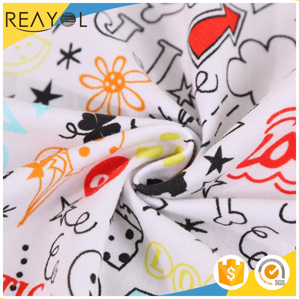 Chinese supplier printed custom fabric soft custom fabric 100 cotton jersey knit fabric