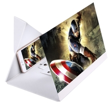 Wholesale Price 14.0 inch Smartphone Screen Magnifier Universal Foldable PU + Organic Glass Eyeshield 3D Video for Mobile Phone