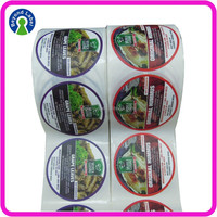 Sticker Label Packaging Quality,Printing Food Grade Adhesive Labels