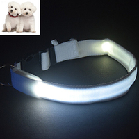 Eco-Friendly Usb Charging Green Led Light Show Pet Dog Collars