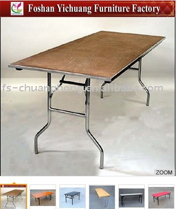 YC-T37-01 Strong Folding Wooden Banquet Tables Wholesale