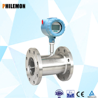 SS304 tube turbine flow meter sensor for water