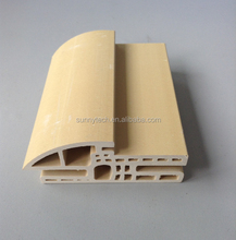 Chinese popular laminate wpc door frame,cheap wpc flush door with wpc door frame