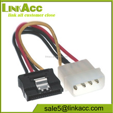 LKCL358 4 pin to 15 pin SATA Adapter Power Cable with Latch