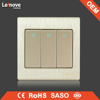 woven gold finish four gang one/two way wall switch