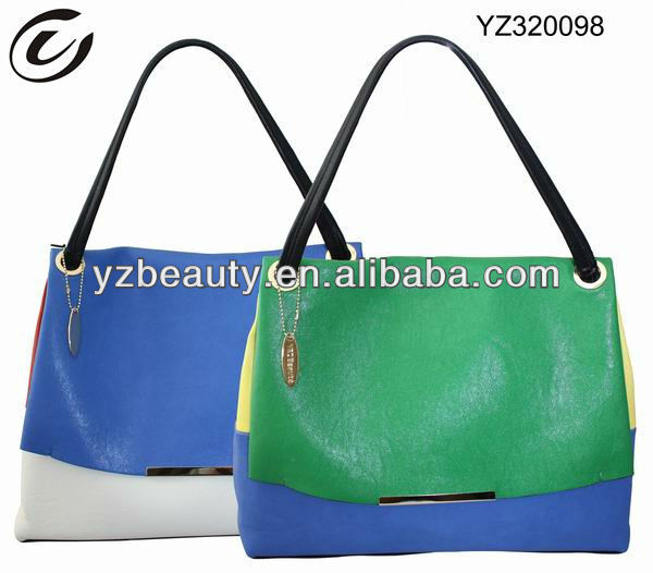 2013 Contrast color remarkable Lady bags handbags
