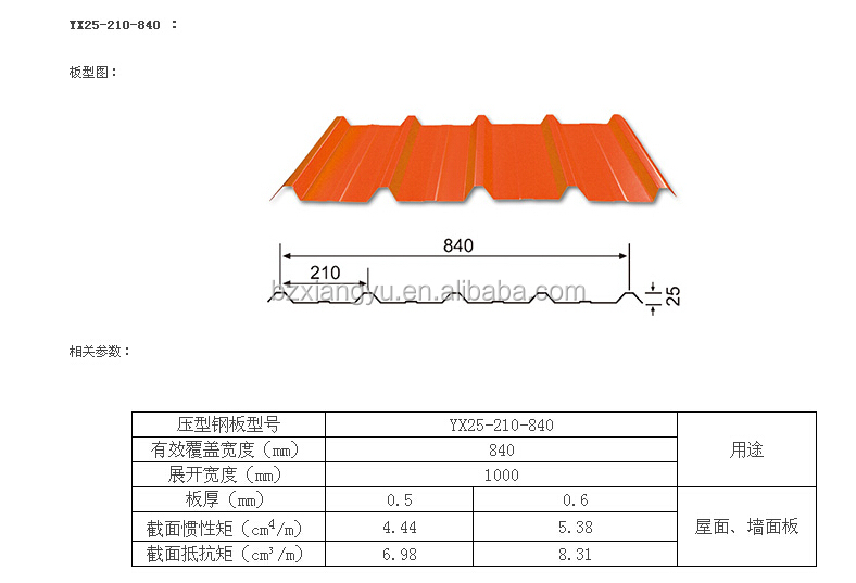 corrugated sheet steel roof