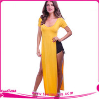 Wholesale Sexy Yellow Pakistani Dresses Dubai In Casual Dresses