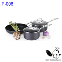 anodized aluminum nonstick cookware set ceramic frying pan as seen on tv