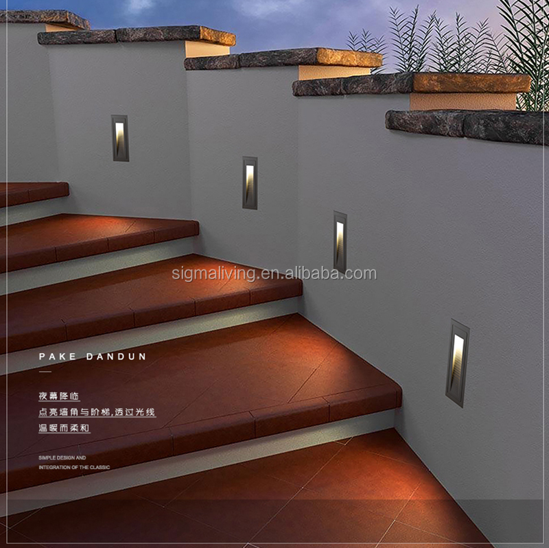 Eco-friendly garden light wall-mounted lamp channel recessed light